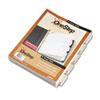 Cardinal® QuickStep OneStep Bulk Index System, Title: 1-5, Letter, White, 24 Sets/Box CRD60533