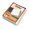 Cardinal® QuickStep OneStep Bulk Index System, Title: 1-10, Letter, White, 24 Sets/Box CRD61033