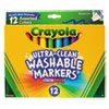 Ultra-Clean Washable Markers, Broad Bullet Tip, Assorted Colors, Dozen