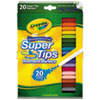 Washable Super Tips Markers, Broad/Fine Bullet Tip, Assorted Colors,