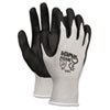 <strong>MCR&#8482; Safety</strong><br />Economy Foam Nitrile Gloves, Large, Gray/Black, 12 Pairs