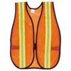 <strong>MCR&#8482; Safety</strong><br />Orange Safety Vest, 2 in. Reflective Strips, Polyester, Side Straps, One Size