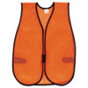Orange Safety Vest, Polyester Mesh, Hook Closure, 18 in. x 47 in., One Size