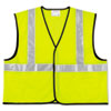<strong>MCR&#8482; Safety</strong><br />Class 2 Safety Vest, Fluorescent Lime w/Silver Stripe, Polyester, Large