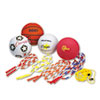 Physical Education Kit w/Seven Balls, 14 Jump Ropes, Assorted Colors