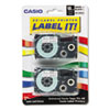 "Tape Cassettes for KL Label Makers, 0.75"" x 26 ft, Black on White, 2/Pack"