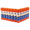 <strong>Elmer's®</strong><br />Disappearing Glue Stick, 0.77 oz, Applies White, Dries Clear, 12/Pack