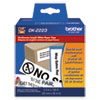 "Continuous Paper Label Tape, 2"" x 100 ft, Black/White"