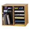 Wood/fiberboard Literature Sorter, 12 Sections, 19 5/8 X 11 7/8 X 16 1/8, Oak