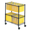 <strong>Safco®</strong><br />Two-Tier Rolling File Cart, 25.75w x 14d x 29.75h, Black