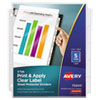 Avery® Index Maker® Print & Apply Clear Label Sheet Protector Dividers
