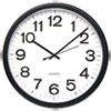 "<strong>Universal®</strong><br />Round Wall Clock, 13.5"" Overall Diameter, Black Case, 1 AA (sold separately)"