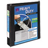 "Heavy-Duty View Binder w/Locking 1-Touch EZD Rings, 1 1/2"" Cap, Black"