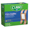 <strong>Curad®</strong><br />Flex Fabric Bandages, Knuckle, 100/Box