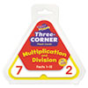Multiplication/Division Three-Corner Flash Cards, 8 & Up, 48/Set