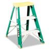 Louisville® #624 Folding Fiberglass Locking 2-Step Stool, 17w x 22 Spread x 24h DADL321202