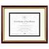 DAX® Document/Certificate Frame w/Mat, Plastic, 11 x 14, 8 1/2 x 11, Mahogany/Gold DAX2703S2RX