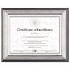 DAX® Photo Frame, Easel Back, Desk/Wall, Plastic, 8 1/2 x 11, Charcoal/Nickel-Tone DAXN15783NT