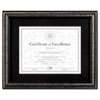 <strong>DAX®</strong><br />Document Frame, Desk/Wall, Wood, 11 x 14 Matted to 8.5 x 11, Antique Charcoal Brushed Finish
