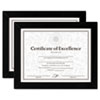 <strong>DAX®</strong><br />Document/Certificate Frames, Wood, 8 1/2 x 11, Black, Set of Two