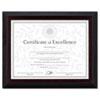 DAX® Stepped Award/Certificate Frame, 8 1/2 x 11, Black w/Walnut Trim DAXN19881BT
