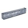 deflect-o® Tilt Bin Plastic Storage System w/6 Bins, 23 5/8 x 3 5/8 x 4 1/2, Black DEF20604OP