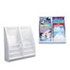 deflect-o® Multi-Tiered Desktop/Wall-Mount Literature Holders, 20 1/4w x 5d x 19 7/8h, Gray DEF52209