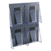 deflect-o® Multi-Pocket Wall-Mount Literature Systems, 18 3/8w x 23 3/4h,Clear/Black DEF56001