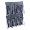 deflect-o® Multi-Pocket Wall-Mount Literature Systems, 18 1/4w x 23 3/4h, Clear/Black DEF56201