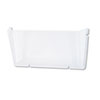 Unbreakable Docupocket Single Pocket Wall File, Letter, Clear