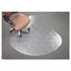 deflect-o® SuperMat Frequent Use Chair Mat, Medium Pile Carpet, Straight,60x66 w/Lip, Clear DEFCM14003K