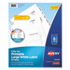 <strong>Avery®</strong><br />Big Tab Printable Large White Label Tab Dividers, 8-Tab, Letter, 20 per pack