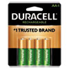 <strong>Duracell®</strong><br />Rechargeable StayCharged NiMH Batteries, AA, 4/Pack
