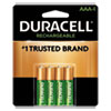 <strong>Duracell®</strong><br />Rechargeable StayCharged NiMH Batteries, AAA, 4/Pack
