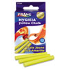 Hygieia Dustless Board Chalk, 3 1/4 x 3/8, Yellow, 12/Box