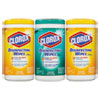 Disinfecting Wipes, 7 x 8, Fresh Scent/Citrus Blend, 75/Canister, 3/Pk