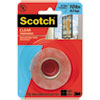 "Scotch® Double-Sided Mounting Tape, Industrial Strength, 1"" x 60"", Clear/Red Liner - 410P"