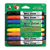 White System Marker, Broad Chisel Tip, Assorted Colors, 8/Set