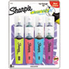 <strong>Sharpie®</strong><br />Clearview Tank-Style Highlighter, Assorted Ink Colors, Chisel Tip, Assorted Barrel Colors, 8/Set