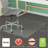 SUPERMAT FREQUENT USE CHAIR MAT FOR MEDIUM PILE CARPET, 36 X 48, RECTANGULAR, CLEAR
