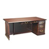 "DMi Governor's Box/File Single Pedestal Desk - 72"" x 36"" x 30"" - 2 x Box Drawer(s), File Drawer(s) - DMI7350580"