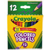 Short-Length Colored Pencil Set, 3.3 mm, 2B (#1), Assorted Lead/Barrel Colors, Dozen
