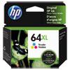 <strong>HP</strong><br />HP 64XL, (N9J91AN) High-Yield Tri-Color Original Ink Cartridge