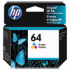 <strong>HP</strong><br />HP 64, (N9J89AN) Tri-Color Original Ink Cartridge