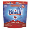 FINISH® Powerball Max in 1 Dishwasher Tabs, Regular Scent, 43/Pack, 4/Carton - 92789