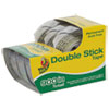 """PERMANENT DOUBLE-STICK TAPE WITH DISPENSER, 1"""" CORE, 0.5"""" X 25 FT, CLEAR, 3/PACK"""