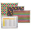 """Fashion Zip 'N Go Reusable Envelope, 1 Section, 13.13"""" x 10"""", Assorted, 3/Pack"""