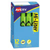 <strong>Avery®</strong><br />HI-LITER Desk-Style Highlighters, Fluorescent Green Ink, Chisel Tip, Green/Black Barrel, Dozen