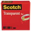 "TRANSPARENT TAPE, 3"" CORE, 0.5"" X 72 YDS, TRANSPARENT, 2/PACK"