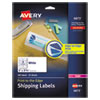 VIBRANT LASER COLOR-PRINT LABELS W/ SURE FEED, 2 X 3 3/4, WHITE, 200/PK